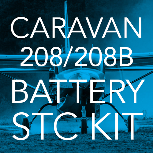 Caravan 208/208B Lithium-ion Battery STC Kit