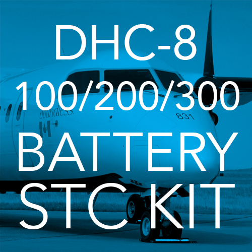 DHC-8 Lithium-ion Battery STC Kit