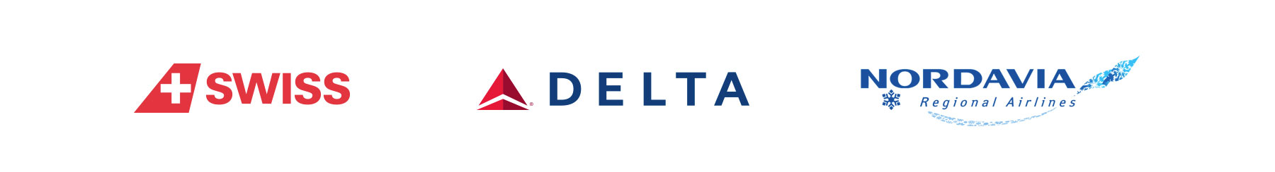 Commercial Partners Swiss, Delta Airlines and Nordavia Regional Airlines