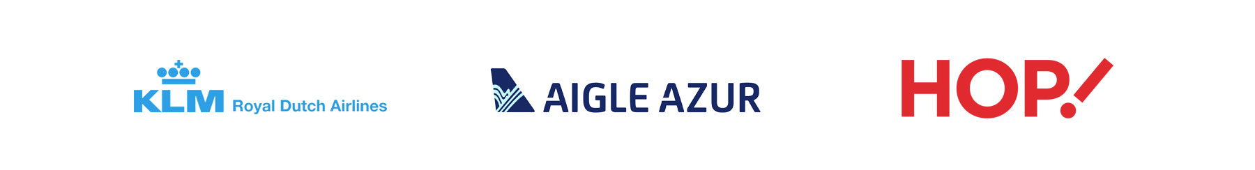 Commercial Partners KLM Royal Dutch Airlines, Aigle Azur and HOP